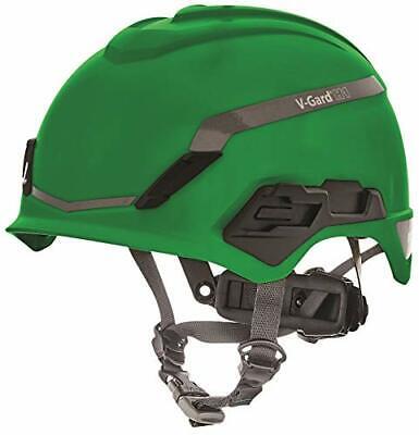MSA 10194794 H1 V-Gard Helmet with Fas-Trac III Ratchet Suspension | Polyethy...