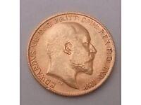 Gold Half Sovereign Coin