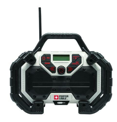 PORTER-CABLE 20-volt Max Cordless Jobsite Radio Durable , PC