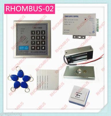 Access Control System W60kg Electronic Lockpower Supplyexit Button10 Em Card