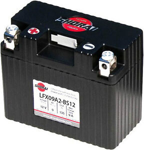 LITHIUM SHORAI BATTERY FOR MOTORCYCLES AND ATVS LFX09A2-BS12
