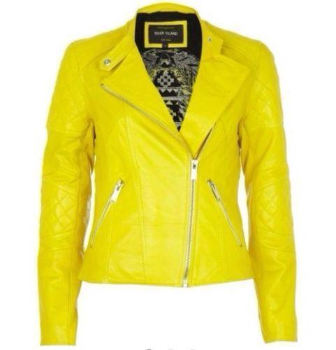 Yellow Leather Jacket Ebay