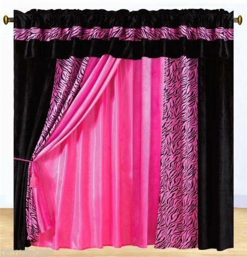 Pink Zebra Curtains Ebay