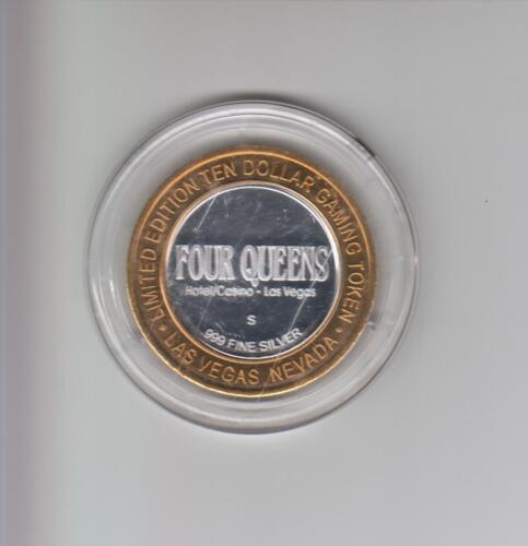 FOUR QUEENS CASINO .999 FINE SILVER LIMITED EDITION GAMING TOKEN