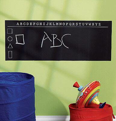 WALLIES ALPHABET CHALKBOARD wall sticker decal chalk ABC letters shapes black - Chalkboard Letters