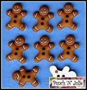 Gingerbread Man Buttons