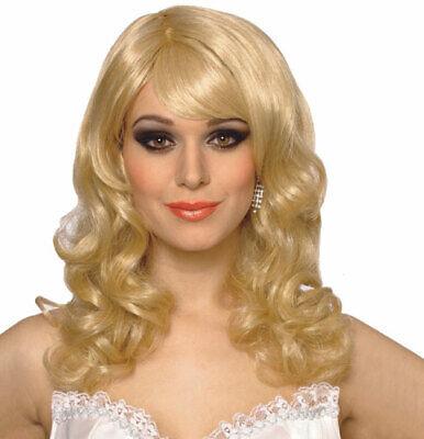 Blonde Singing Star Halloween Costume Wig (Blonde Celebrities Halloween Costumes)
