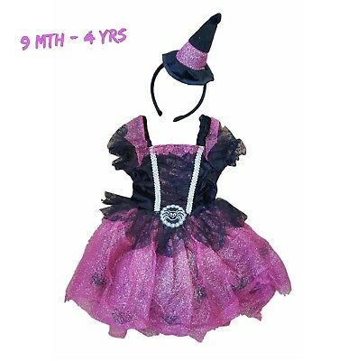 Baby Girls Halloween Outfit Fancy Dress Up Tutu Costume Set Outfit 9/12Mth-3/4Yr