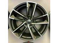 x4 19 Inch RS7 Style Alloy Wheels Et45 5x112 Audi TT A3 A4 A6 Vw Golf Caddy