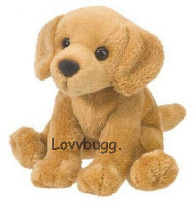 "Lovvbugg Dog Golden Retriever 5"" Pet for 18"" American Girl Doll Accessory"