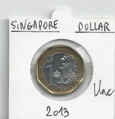 SINGAPORE DOLLAR 2013 BIMETAAL UNCIRCULATED