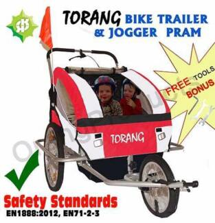 Brand New Torang 3in1 Kid child Bike Trailer 2seats jogge Maylands Bayswater Area Preview