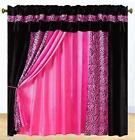 Pink Zebra Valance