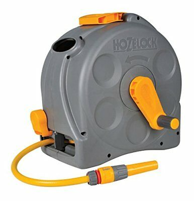 Hozelock Compact 2in1 Multi-Purpose Garden Hose Fully Portable Nozzle Reel 25m