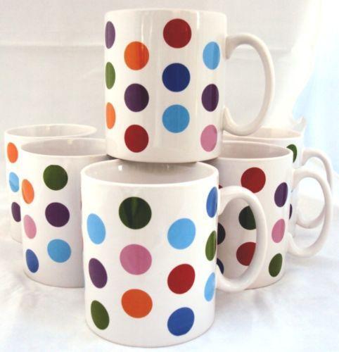 Fabulous Polka Dot Mugs | eBay NW04