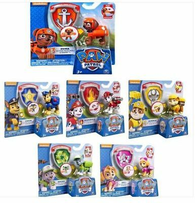 New Paw Patrol Action Pack Pup dog backpack projectile toys Figure Set of 6