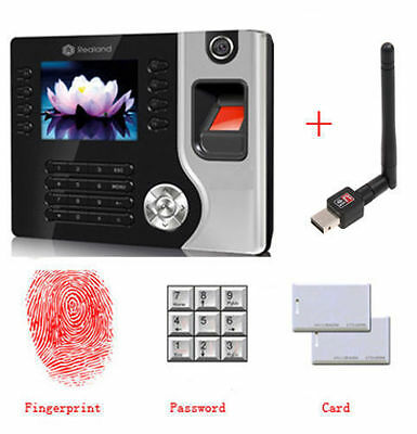 Realand Biometric Fingerprint Attendance Time Clock Id Card Reader Tcpip Hm