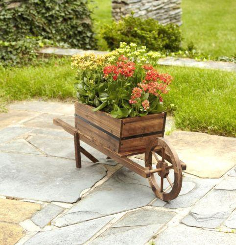 Wooden Wheelbarrow Planters Pots Amp Window Boxes Ebay