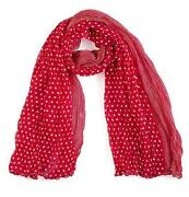 Red Polka Dot Scarf
