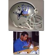 Dallas Cowboys Autographed Mini Helmet