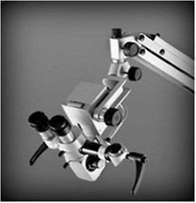 5 Step-dental Wall Fitting Microscopemanual Focuswith Ccd Cameraled Monitor
