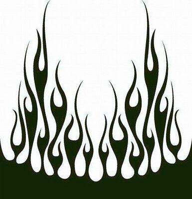 66 Flame Hood Decal Vinyl Graphic Car Truck Auto Suv Van  Semi Cross Over Blaze