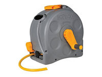 Hozelock 2-in-1 Compact Enclosed Hose Reel with 20m Hose