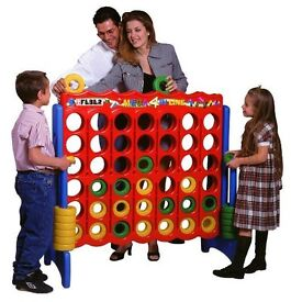 Giant Four In A Row Game. 5ft x 5ft. Ideal for indoor and outdoor use. Ideal for all ages at Xmas