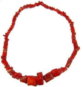 Red coral necklace ebay vintage red coral necklace mozeypictures Images