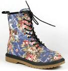 Combat Boots Floral Women's US Size 7