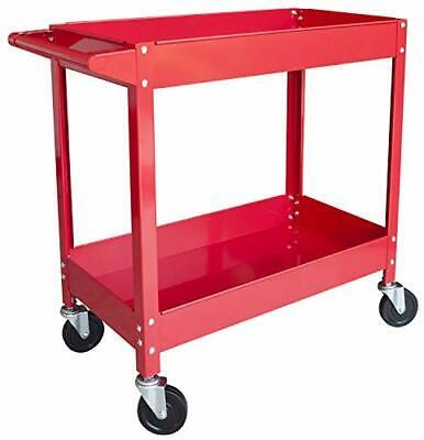 300 Lbs Capacity 2 Shelf Steel Service Utility Cart Aptc304b