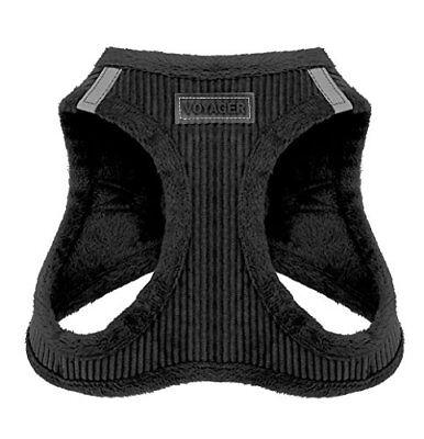 Voyager Soft Harness for Pets - No Pull Vest, Best Pet Supplies, Large, Black