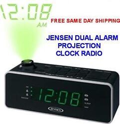 JENSEN DUAL ALARM PROJECTION CLOCK RADIO MODEL JCR-235 FREE SAME DAY SHIPPING