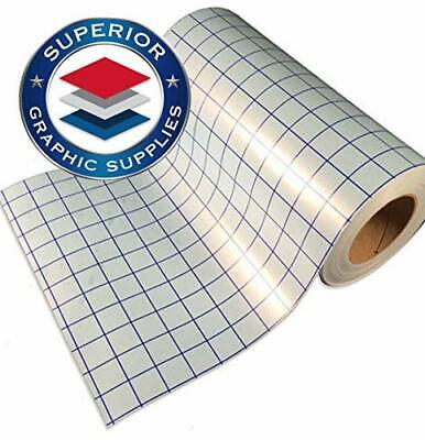 Transfer Paper Wgrid - Clear Blue Grid Perfect Alignment - 1 Roll - 12 X 25