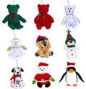 TY-2002-JINGLE-BEANIE-SET-of-9-MINT
