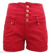 High Waisted Cotton Shorts