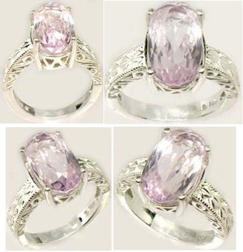 Kunzite Ring 6½ct+ Afghani 19thC Antique Ancient Good Luck Amulet Purity Symbol