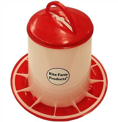 Medium Rite Farm Products Hd 6.6 Pound Chicken Feeder Lid Handle Poultry Chick