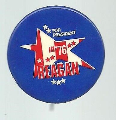 RONALD REAGAN FOR PRESIDENT 1976 POLITICAL CAMPAIGN STAR PIN