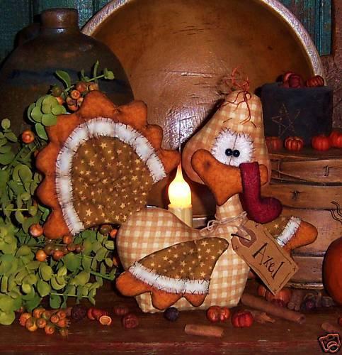 Primitive Thanksgiving Turkey Bird Doll Paper Pattern #522