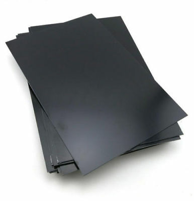 Black 1 Pcs Abs Styrene Plastic Flat Sheet Plate 0.5mm X 200mm X 200mm