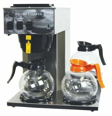 Newco 101879 Ak-3 Industrial 3 Warmer Pour Over Coffee Maker Brewer