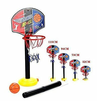 Childrens Adjustable Free Standing Basketball Netball Hoop Toy Inside Outside