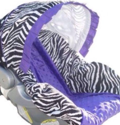 purple infant car seat cover ebay. Black Bedroom Furniture Sets. Home Design Ideas