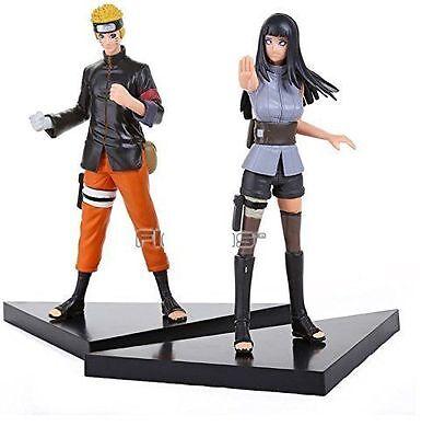 "Naruto Uzumaki & Naruto Hyuuga Hinata PVC 6"" Action Figures Toy 2 PCS Set"