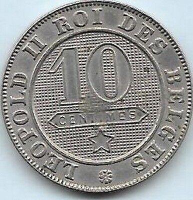 10 Centimes  Léopold II 1894 FR Qualité