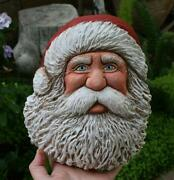 Wood Carved Santa