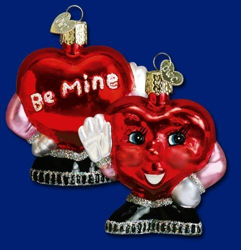 Mr. Be Mine Valentine Heart Ornament Old World 30017