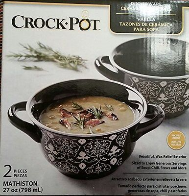 Crock Pot Ceramic Soup Bowl
