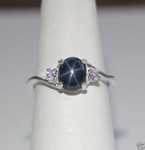genuine star sapphire ring ebay. Black Bedroom Furniture Sets. Home Design Ideas